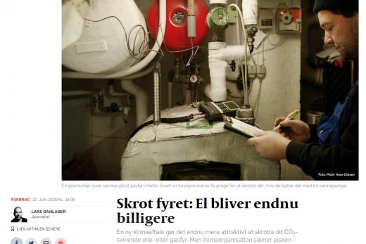 Klimaaftale om afgiftsnedsættelse på el gør Nærvarme Danmarks abonnement ca. 1000 kr. billigere årligt.