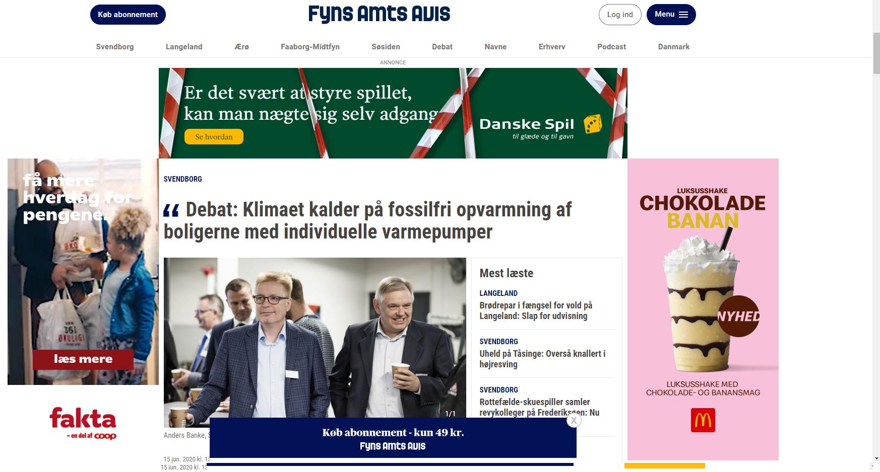 Læs debatindlæg om Nærvarme Danmark, varmepumper og klimaet her.