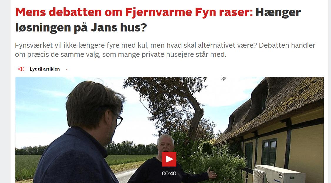 TV2 Fyn taler med Nærvarme Danmark kunde