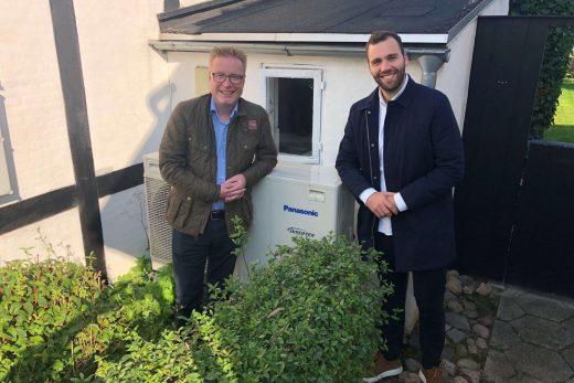 Luft til vand varmepumper på abonnement var blandt emnerne, da Folketingsmedlem Bjørn Brandenburg var inviteret af Nærvarme Danmark - en del af SEF.
