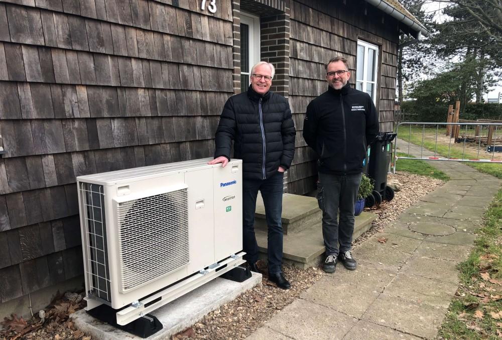 Hør og se luft til vand varmepumpe fra Nærvarme Danmark hos GO2Green i Svendborg
